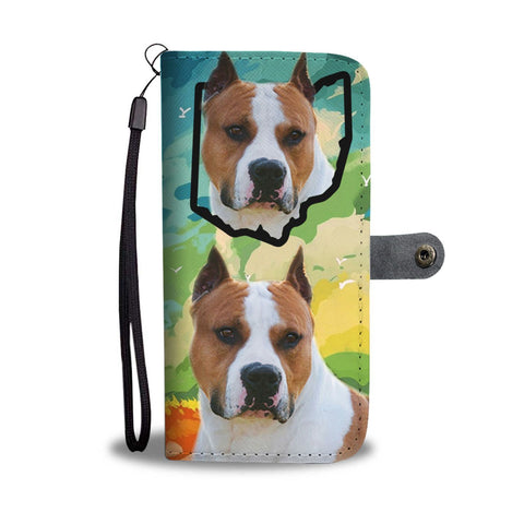 American Staffordshire Terrier Print Wallet Case-Free Shipping-OH State