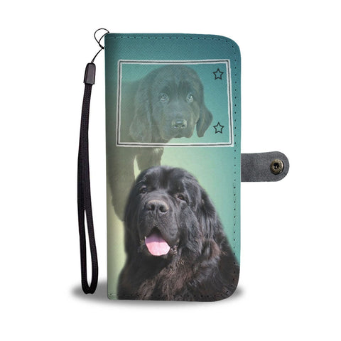 Newfoundland Dog Print Wallet Case-Free Shipping-CO State