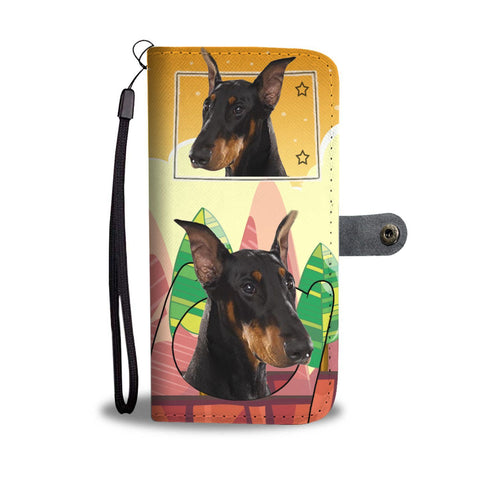 Doberman Pinscher Print Wallet Case-Free Shipping-CO State