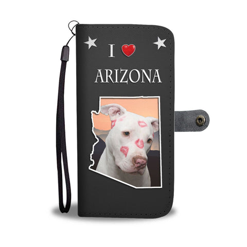 Pit Bull Terrier Print Wallet Case-Free Shipping-AZ State