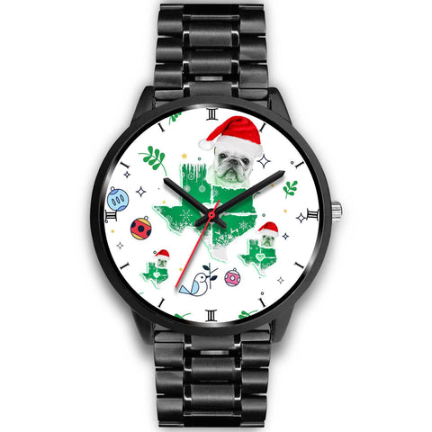 French Bulldog Texas Christmas Special Wrist Watch-Free Shipping