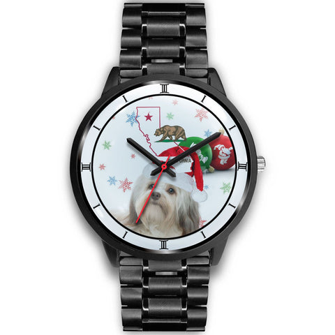 Havanese Dog California Christmas Special Wrist Watch-Free Shipping
