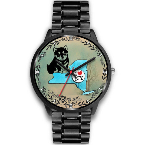 Lovely Shiba Inu Art New York Christmas Special Wrist Watch-Free Shipping