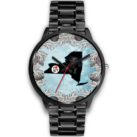 Black Labrador Dog New York Christmas Special Wrist Watch-Free Shipping