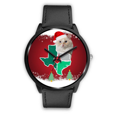 Ragamuffin Cat Texas Christmas Special Wrist Watch-Free Shipping