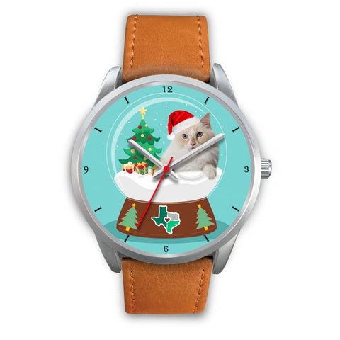 Cute Ragamuffin Cat Texas Christmas Special Wrist Watch-Free Shipping