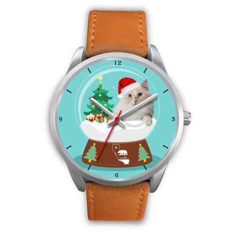 Cute Ragamuffin Cat California Christmas Special Wrist Watch-Free Shipping
