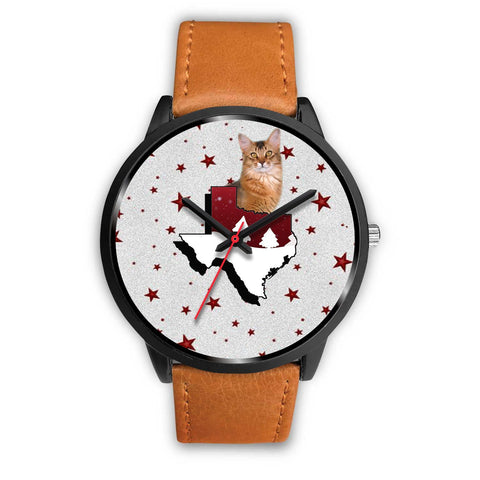 Somali Cat Texas Christmas Special Wrist Watch-Free Shipping