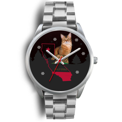 Somali Cat California Christmas Special Wrist Watch-Free Shipping