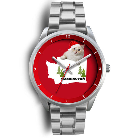 Ragamuffin Cat Washington Christmas Special Wrist Watch-Free Shipping
