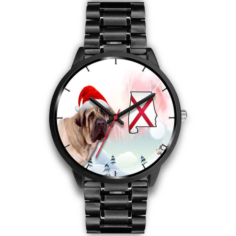 English Mastiff Dog Alabama Christmas Special Wrist Watch-Free Shipping
