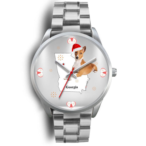 Basenji Dog Georgia Christmas Special Wrist Watch-Free Shipping