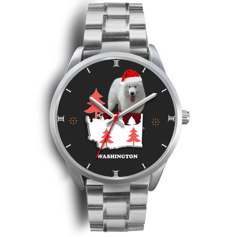 Samoyed dog Washington Christmas Special Wrist Watch-Free Shipping