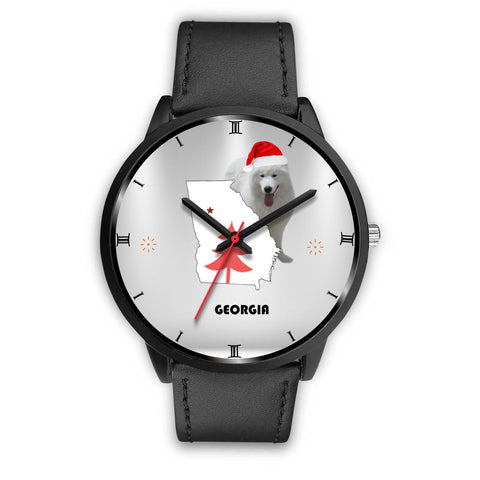 Samoyed dog Georgia Christmas Special Wrist Watch-Free Shipping