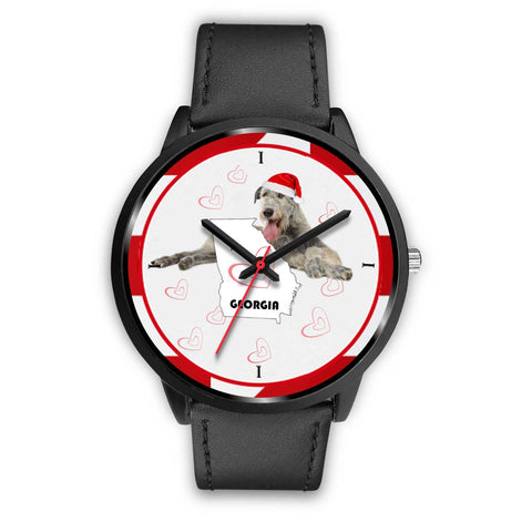 Irish Wolfhound Georgia Christmas Special Wrist Watch-Free Shipping