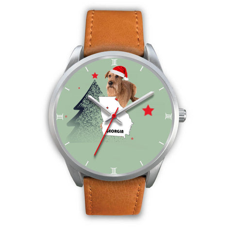 Irish Terrier Georgia Christmas Special Wrist Watch-Free Shipping