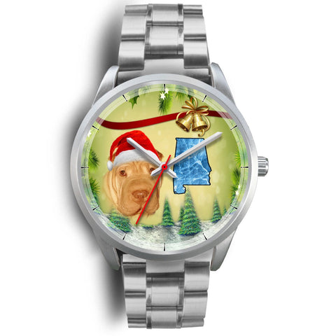 Shar Pei Alabama Christmas Special Wrist Watch-Free Shipping