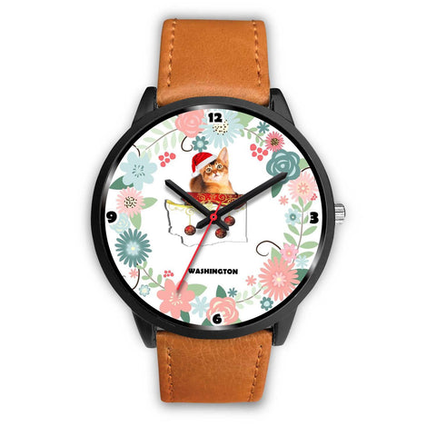Abyssinian Cat Washington Christmas Special Wrist Watch-Free Shipping