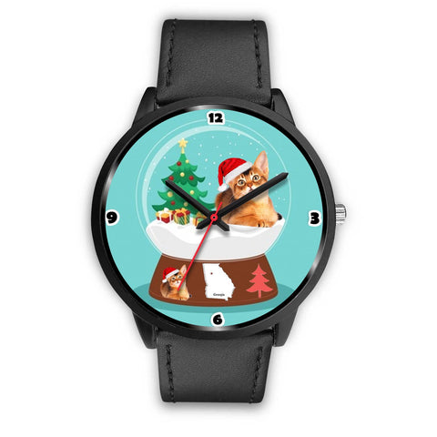 Abyssinian Cat Georgia Christmas Special Wrist Watch-Free Shipping
