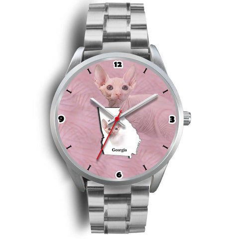 Sphynx Cat Georgia Christmas Special Wrist Watch-Free Shipping