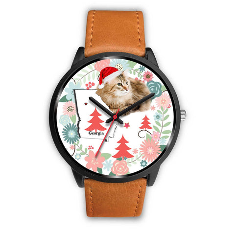 Siberian Cat Georgia Christmas Special Wrist Watch-Free Shipping