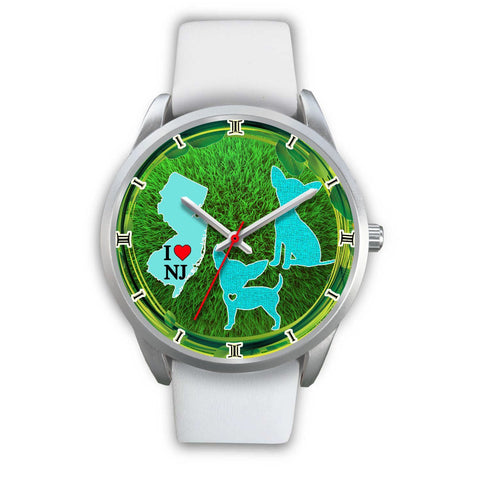 Cute Chihuahua Dog Art New Jersey Christmas Special Wrist Watch-Free Shipping