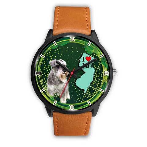 Miniature Schnauzer Dog New Jersey Christmas Special Wrist Watch-Free Shipping