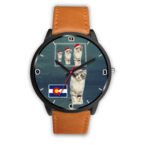 American Curl Cat Colorado Christmas Special Wrist Watch-Free Shipping