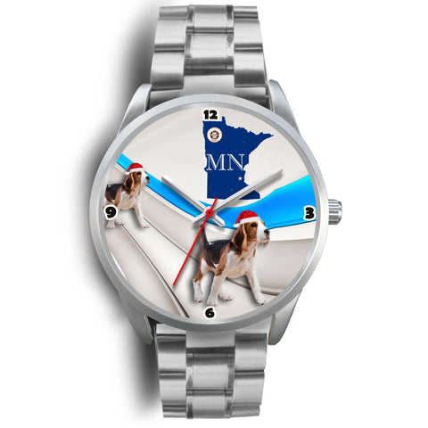 Beagle Dog Minnesota Christmas Special Wrist Watch-Free Shipping