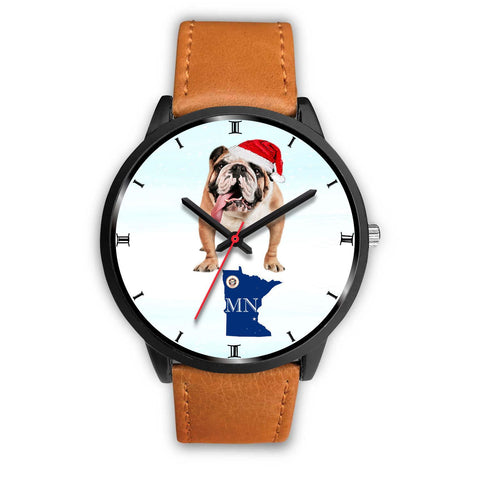 Bulldog Dog Minnesota Christmas Special Wrist Watch-Free Shipping
