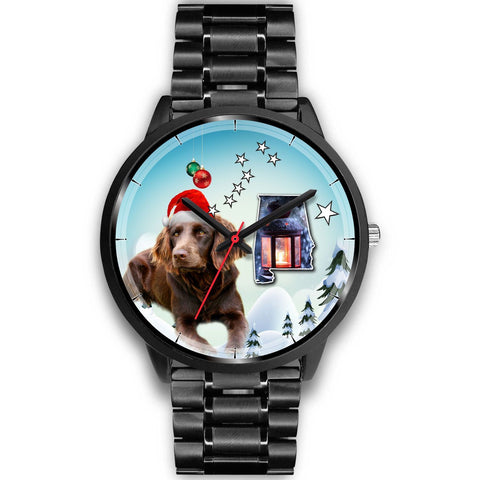 Boykin Spaniel Alabama Christmas Special Wrist Watch-Free Shipping