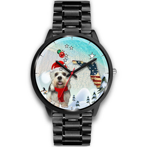 Dandie Dinmont Terrier Florida Christmas Special Wrist Watch-Free Shipping