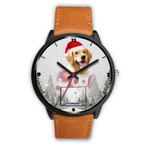 Golden Retriever Colorado Christmas Special Wrist Watch-Free Shipping