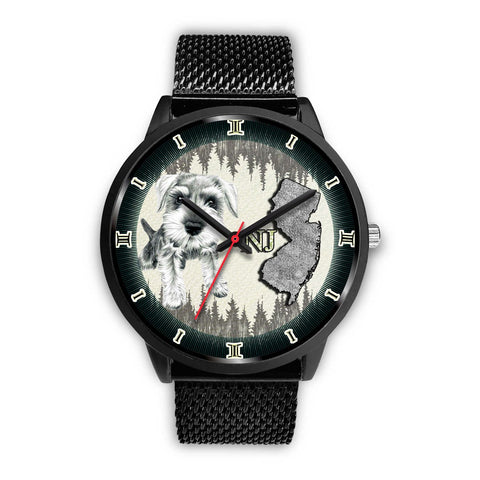 Miniature Schnauzer Dog Sketch New Jersey Christmas Special Wrist Watch-Free Shipping