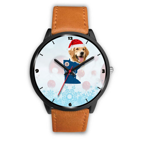 Golden Retriever Minnesota Christmas Special Wrist Watch-Free Shipping