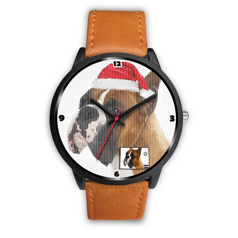 Boxer Dog Colorado Christmas Special Wrist Watch-Free Shipping