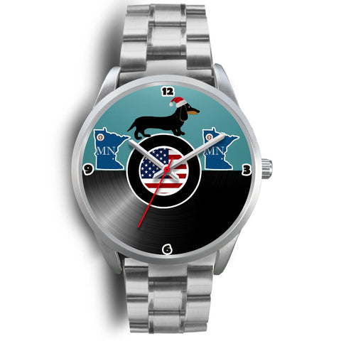 Dachshund Dog Minnesota Christmas Special Wrist Watch-Free Shipping