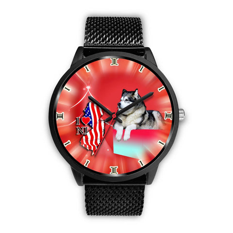 Alaskan Malamute Dog New Jersey Christmas Special Wrist Watch-Free Shipping