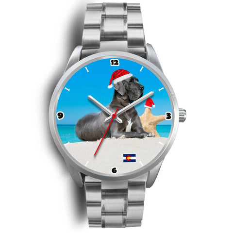 Great Dane Dog Colorado Christmas Special Wrist Watch-Free Shipping