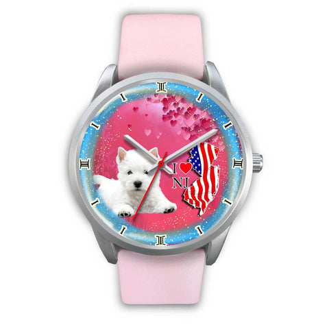 Cute Westie Dog New Jersey Christmas Special Wrist Watch-Free Shipping
