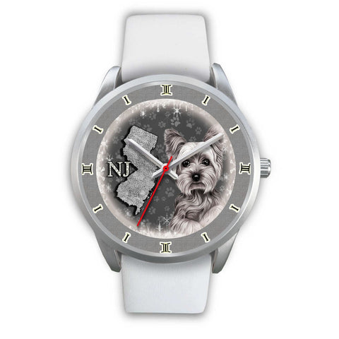 Cute Yorkie Sketch New Jersey Christmas Special Wrist Watch-Free Shipping