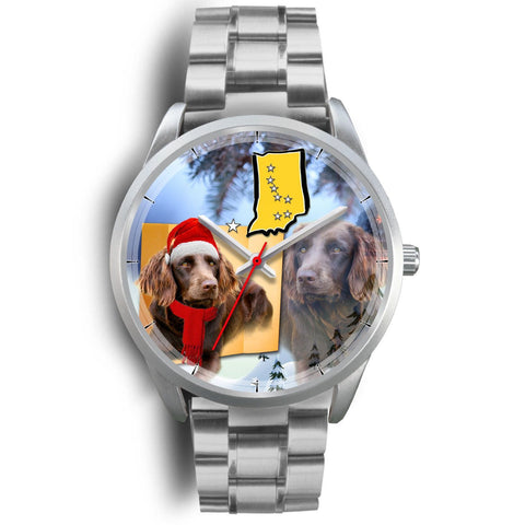 Boykin Spaniel Indiana Christmas Special Silver Wrist Watch-Free Shipping