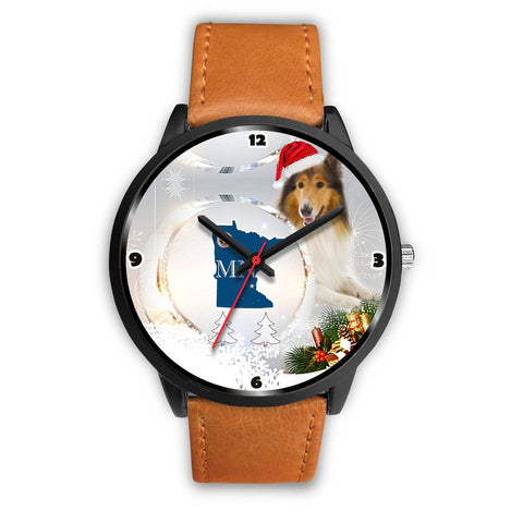 Rough Collie Minnesota Christmas Special Wrist Watch-Free Shipping