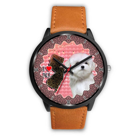 Cute Maltese Dog New Jersey Christmas Special Wrist Watch-Free Shipping
