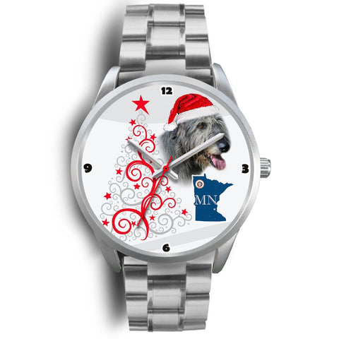 Irish Wolfhound Minnesota Christmas Special Wrist Watch-Free Shipping
