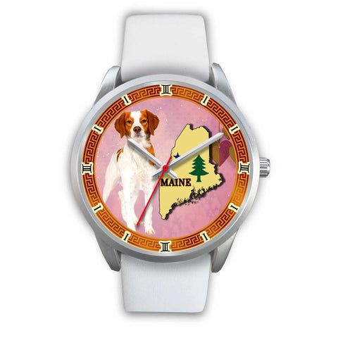 Graceful Brittany Dog Maine Christmas Special Wrist Watch-Free Shipping