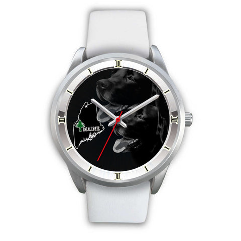 Black Labrador Dog Maine Christmas Special Limited Edition Wrist Watch-Free Shipping