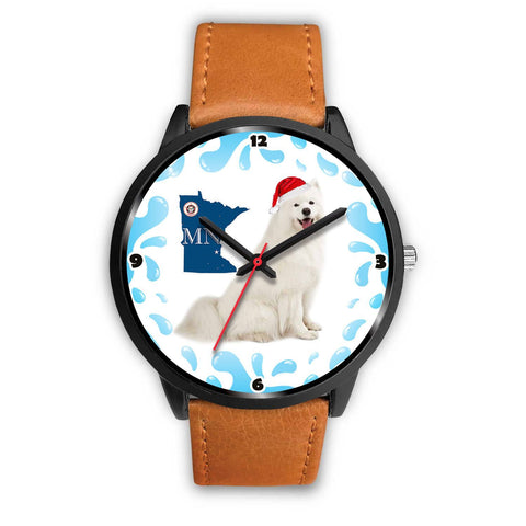 Samoyed Dog Minnesota Christmas Special Wrist Watch-Free Shipping