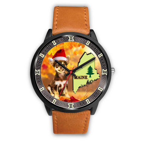 Cute Chihuahua Dog Maine Christmas Special Wrist Watch-Free Shipping
