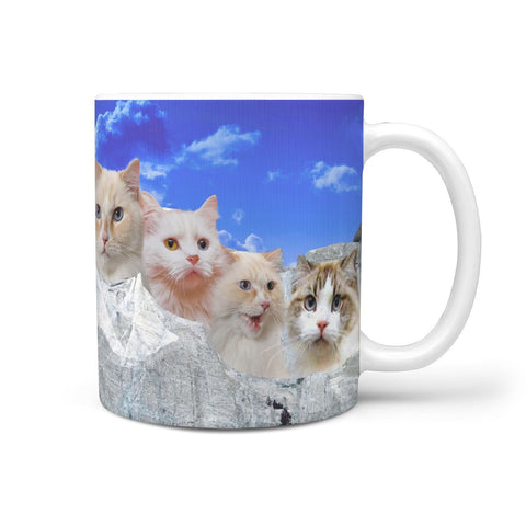 Beautiful Ragamuffin Cat On Mount Rushmore Print 360 Mug